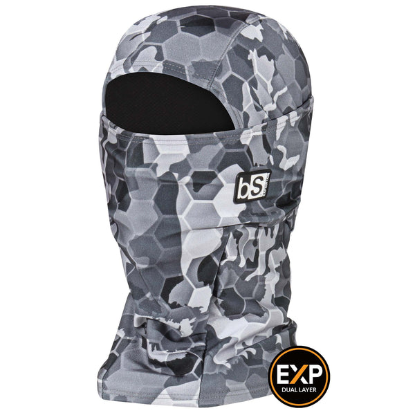 BlackStrap The Expedition Hood Balaclava Hex Camo Gray USA Made Facemask