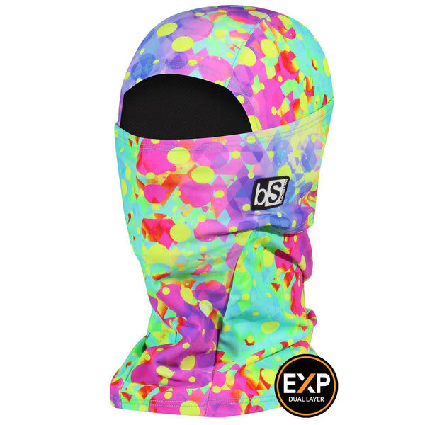 BlackStrap The Expedition Hood Balaclava Neon Geometry USA Made Facemask