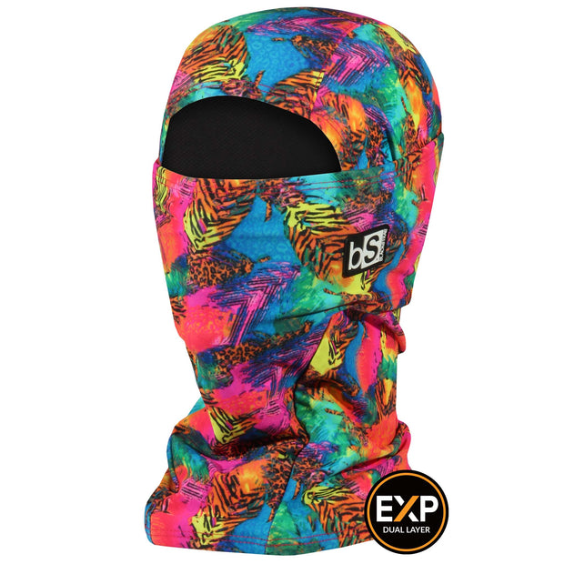 BlackStrap The Expedition Hood Balaclava Neon Tropics USA Made Facemask