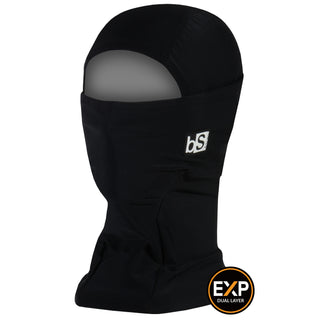 BlackStrap The Expedition Hood Balaclava Solid Black USA Made Facemask