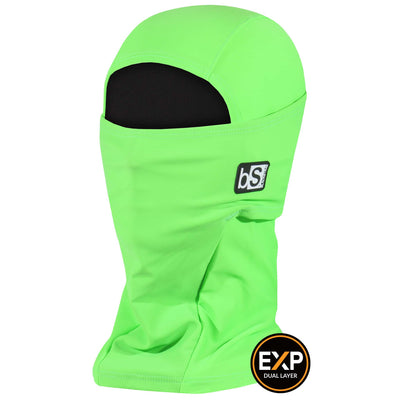 BlackStrap The Expedition Hood Balaclava Solid Bright Green USA Made Facemask
