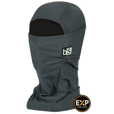 BlackStrap The Expedition Hood Balaclava Solid Granite USA Made Facemask