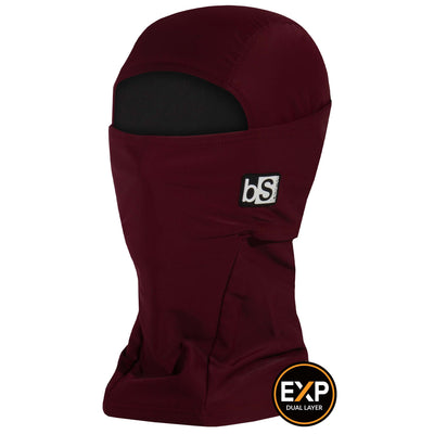 BlackStrap The Expedition Hood Balaclava Solid Wine USA Made Facemask