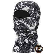 BlackStrap The Expedition Hood Balaclava Splatter Paint Black and White USA Made Facemask