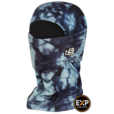 BlackStrap The Expedition Hood Balaclava Tie Dye Navy USA Made Facemask