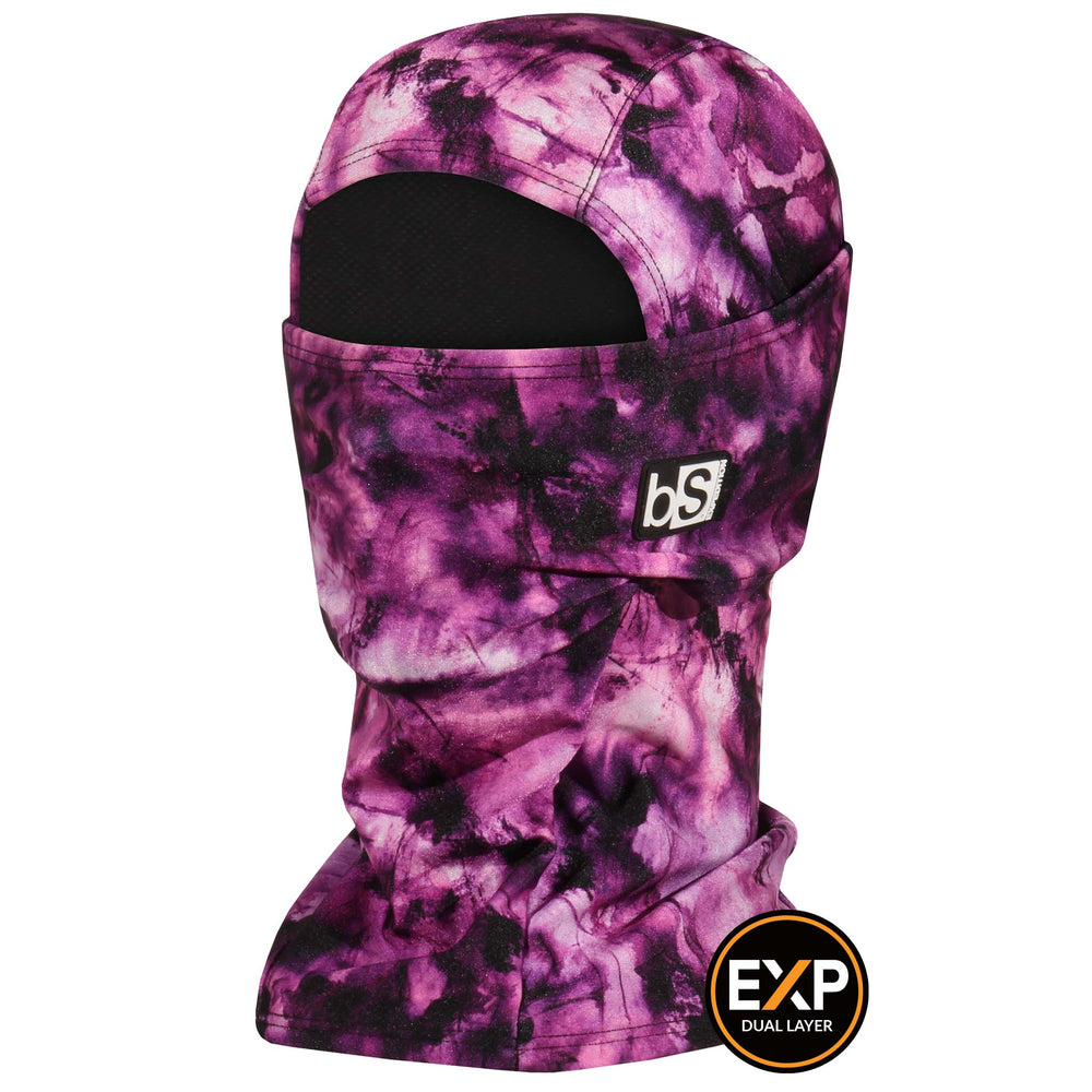 BlackStrap The Expedition Hood Balaclava Tie Dye Orchid Pink USA Made Facemask