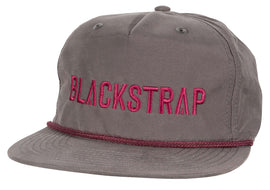 BlackStrap Snapback Hat Apres Gray with Electric Text Logo