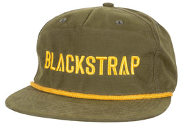 BlackStrap Snapback Hat Apres Green with Electric Text Logo