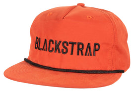 BlackStrap Snapback Hat Apres Orange with Electric Text Logo