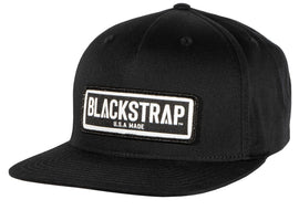 BlackStrap Snapback Hat Canvas Black with Electric Text Logo