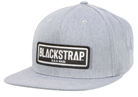 BlackStrap Snapback Hat Canvas Gray with Electric Text Logo