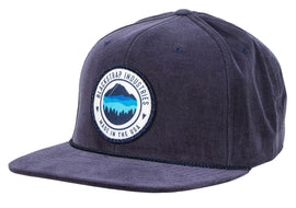 BlackStrap Snapback Hat Corduroy Navy with Mountain Horizon Logo