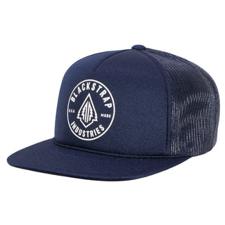BlackStrap Snapback Hat Trucker Navy with Electric Tree Logo