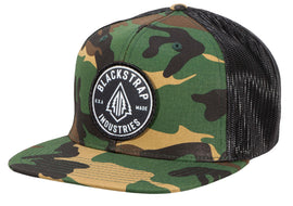 BlackStrap Snapback Hat Wool Camo with Electric Tree Logo