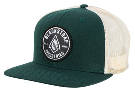 BlackStrap Snapback Hat Wool Forest Green with Electric Tree Logo