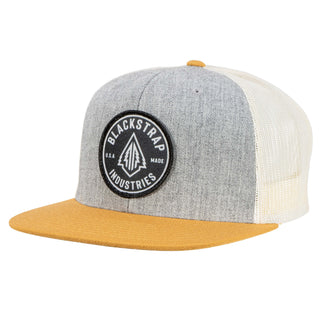 BlackStrap Snapback Hat Wool Gray and Sand with Electric Tree Logo