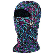 BlackStrap The Hood Balaclava Purple and Black Dainty Flowers USA Made Facemask