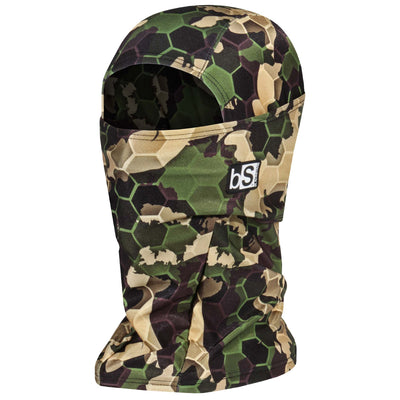 BlackStrap The Hood Balaclava Hex Camo Forest USA Made Facemask