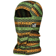 BlackStrap The Hood Balaclava Tribe Aztec Green and Gold USA Made Facemask
