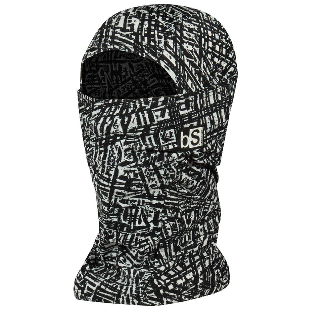 BlackStrap The Hood Balaclava Treaded Black and White USA Made Facemask
