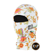 BlackStrap The Kids Expedition Hood Balaclava Floral Royal USA Made Facemask