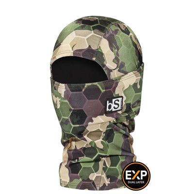 BlackStrap The Kids Expedition Hood Balaclava Hex Camo Forest USA Made Facemask