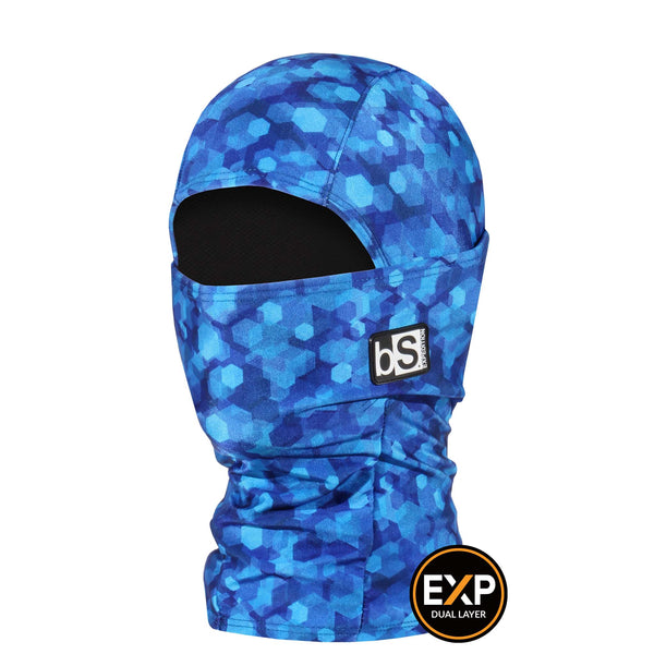 BlackStrap The Kids Expedition Hood Balaclava Hex'd Blue USA Made Facemask