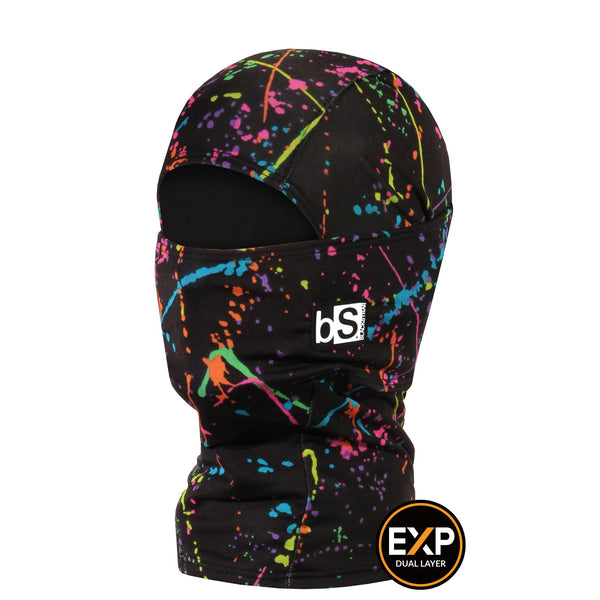 BlackStrap The Kids Expedition Hood Balaclava Paint Splash USA Made Facemask