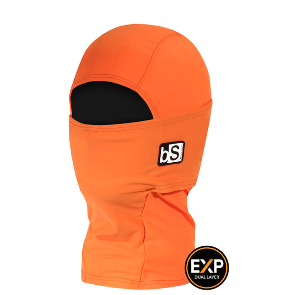 BlackStrap The Kids Expedition Hood Balaclava Solid Bright Orange USA Made Facemask