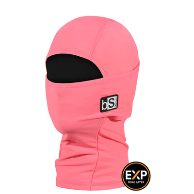 BlackStrap The Kids Expedition Hood Balaclava Solid Coral USA Made Facemask