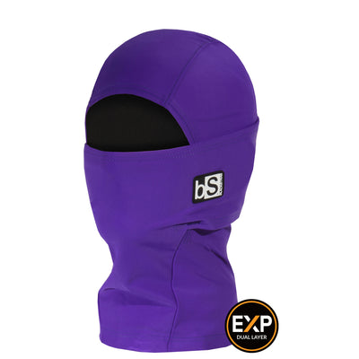 BlackStrap The Kids Expedition Hood Balaclava Solid Deep Purple USA Made Facemask