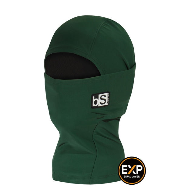 BlackStrap The Kids Expedition Hood Balaclava Solid Forest Green USA Made Facemask