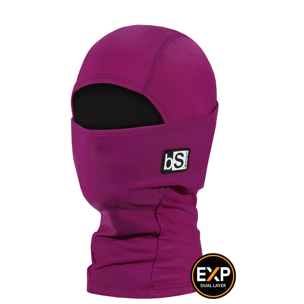 BlackStrap The Kids Expedition Hood Balaclava Solid Hibiscus USA Made Facemask