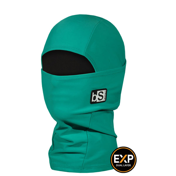 BlackStrap The Kids Expedition Hood Balaclava Solid Jade USA Made Facemask