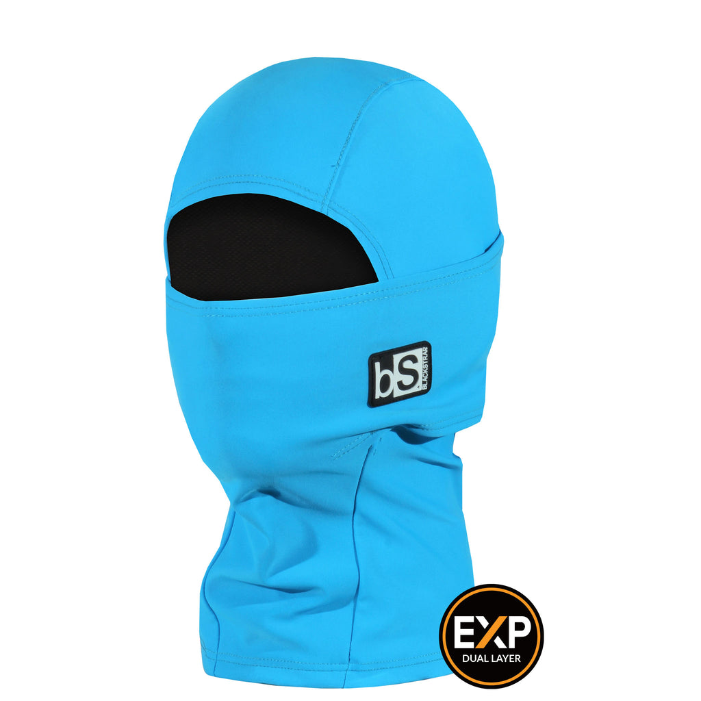 BlackStrap The Kids Expedition Hood Balaclava Solid Turquoise USA Made Facemask