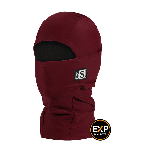 BlackStrap The Kids Expedition Hood Balaclava Solid Wine USA Made Facemask