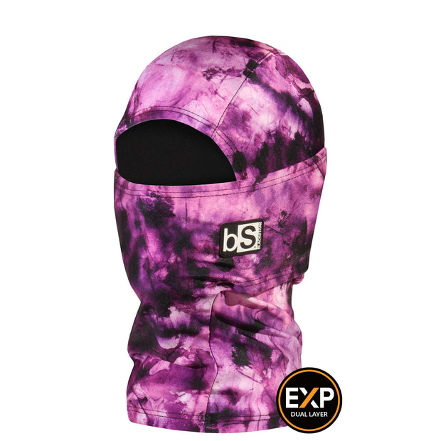 BlackStrap The Kids Expedition Hood Balaclava Tie Dye Orchid Pink USA Made Facemask