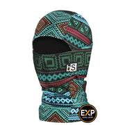 BlackStrap The Kids Expedition Hood Balaclava Tribe Green USA Made Facemask