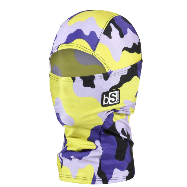 BlackStrap Kids Hood Balaclava Camo Fatigue Yellow and Purple USA Made Face Mask