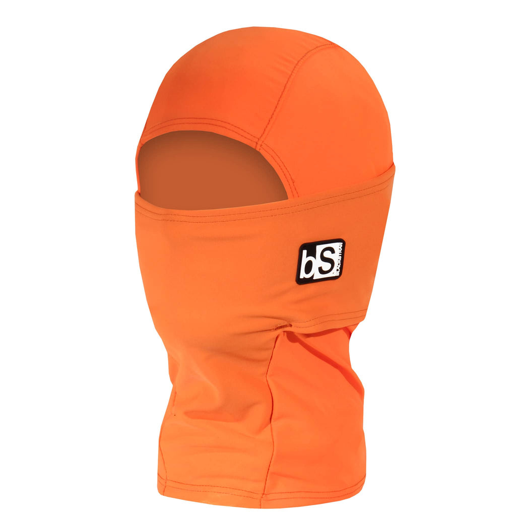 BlackStrap Kids Hood Balaclava Solid Bright Orange USA Made Face Mask