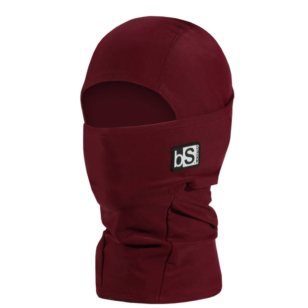 BlackStrap Kids Hood Balaclava Solid Wine USA Made Face Mask
