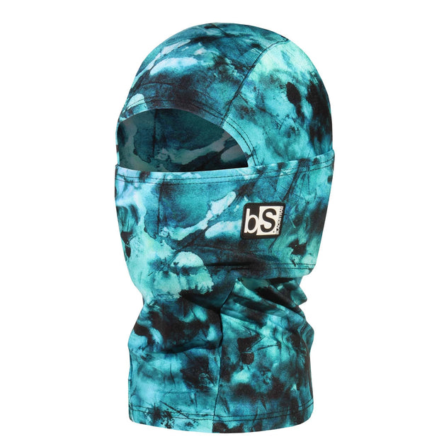 BlackStrap Kids Hood Balaclava Tie Dye Teal USA Made Face Mask