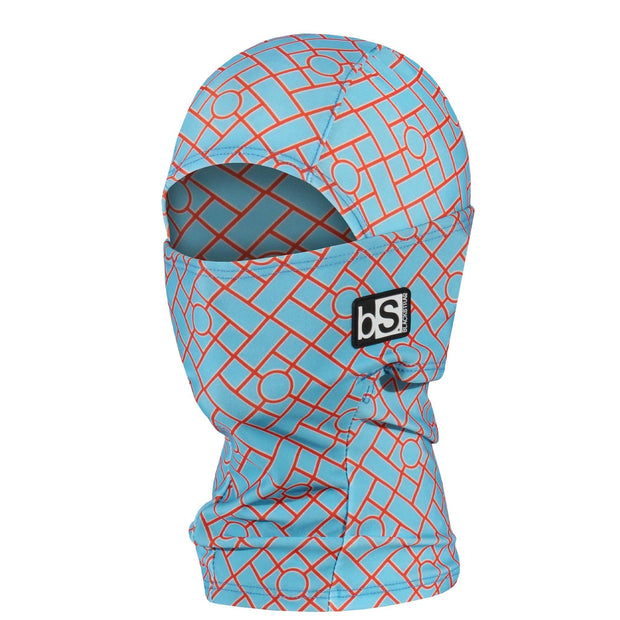 BlackStrap Kids Hood Balaclava Tiles Blue USA Made Face Mask