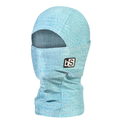 BlackStrap Kids Hood Balaclava Tweed Bright Blue USA Made Face Mask