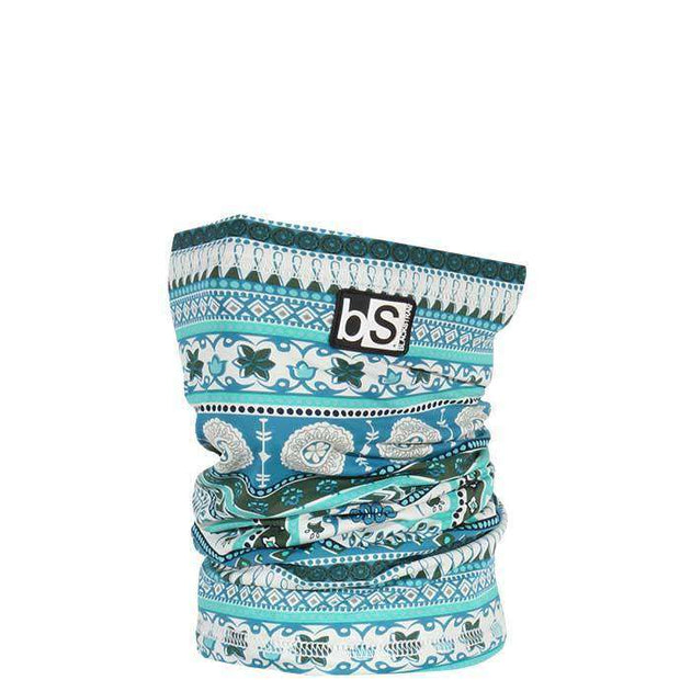 The Kids Dual Layer Tube Facemask | Tribe Flower Teal - BlackStrap Industries Inc. ALL RIGHTS RESERVED.