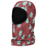 BlackStrap The Sock Hood Balaclava Scott McCurdy Palms Maroon USA Made Facemask