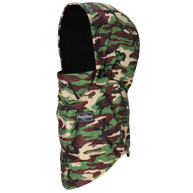 BlackStrap The Team Hood Balaclava Camo Army Olive USA Made Facemask