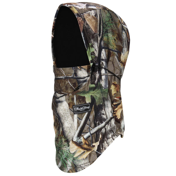 BlackStrap The Team Hood Balaclava Timber Fall Camo USA Made Facemask