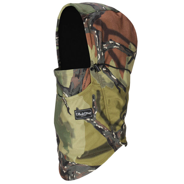 BlackStrap The Team Hood Balaclava Camo Tree Branch USA Made Facemask