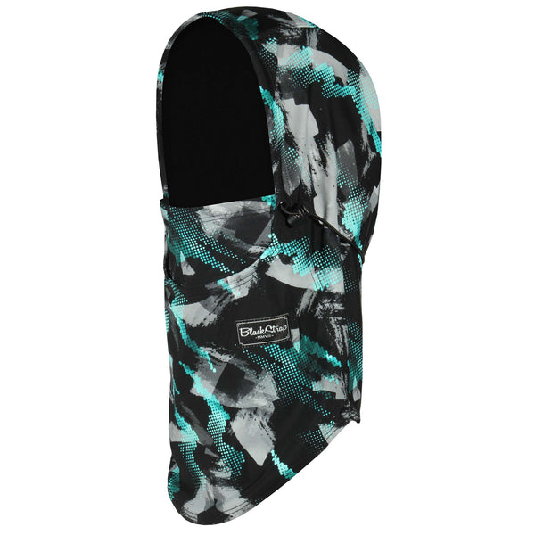 BlackStrap The Team Hood Balaclava Geode Teal USA Made Facemask